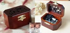 CLASSIC OCTAGON WOOD WIND UP MUSIC BOX :  MY HEART WILL GO ON