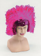 Pink Feather Headdress Las Vegas Show Girl Moulin Rouge Burlesque Fancy Dress