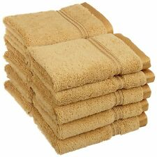 Superior Egyptian Cotton 10 Piece Face Towel Set Gold by Superior 600FACEGL NEW
