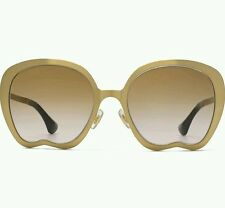 New Miu Miu Authentic Designer Sunglasses SMU 54N JAZ-1B2 Gold Clear