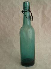 bouteille à limonade ou bière ancienne en verre bleu/vert 62 cl