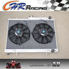 52MM Aluminum Radiator for Nissan Skyline R33 R34 GTR GTST RB25DET MT + FANS
