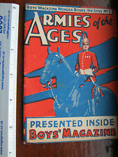 Boys' Magazine Wonder book No3 Armies of the Ages book - small size! Rare