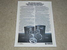 Yamaha Speaker Ad, 1976, NS-1000m, NS-690II, Article, 1 page, RARE!