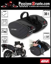 bolsas maletas lateral suave moto scooter GIVI ea101 Silla de montar Bolsas