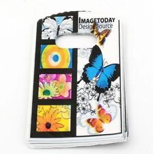 Jewelry Pouches.50pcs 9X15cm butterfly  Plastic Bags Jewelry Gift Bag