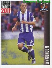 320 BEN GORDON ENGLAND KILMARNOCK.FC STICKER SCOTTISH PREMIER LEAGUE 2011 PANINI