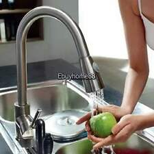 "16"" Pull Down Chrome Kitchen & Spray Bar Sink Faucet - One Single Hole / Handle"