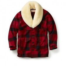 Vintage New! - Filson - Mackinaw Wool Packer Coat - 46 - Red/Black Check