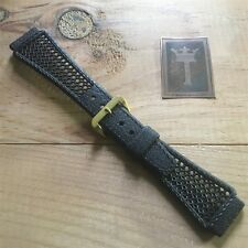 20mm Tropic type Vintage Black Watch Band Golay Playa Swiss Rubber Dive Strap