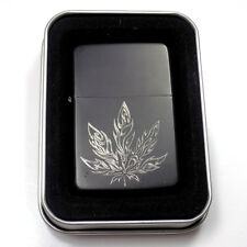 Pot Marijuana 420 Black Gift Engraved Cigarette Lighter Biker Gift LEN-0122