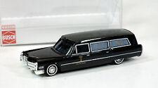 Busch 1/87 HO Cadillac Station Wagon HEARSE 42919  NEW  Black