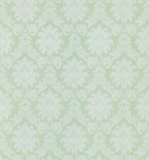 Pale Green Silky Damask Wallpaper Double Roll Bolts FREE SHIPPING