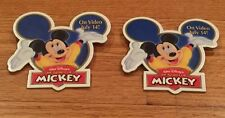LOT OF 2 DISNEY CAST MEMBER PINBACK THE SPIRIT OF MICKEY VIDEO PROMO 1998 MOUSE