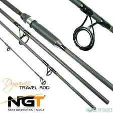 Travel Fishing Rod 9ft Carbon 4 Piece NGT Dynamic for Carp Sea Spinning