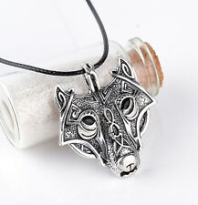 Vikings Norse Necklace Original NEW Jewelry Necklace Pendant Head Wolf Animal