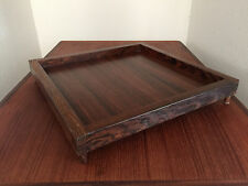 DON SHOEMAKER TRAY BOX ROSEWOOD DESIGN VINTAGE MID CENTURY CALIFORNIA MODERN ERA