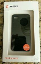GRIFFIN FLEXGRIP PUNCH SILICONE APPLE IPHONE 4 4S BLACK CASE 16GB 32GB RE01903