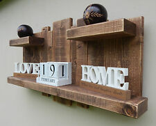 FLOATING SHELF HOME DECOR WALL ART STORAGE FURNITURE RUSTIC RECLAIMED WOOD UNIT.