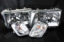 Headlights + Turn Lights PAIR SET Fits MERCEDES E-Class W124 Facelift 1993-1995