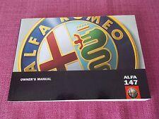 ALFA ROMEO 147 (2002 - 2005) manuale proprietari-i proprietari guida-Manuale (sejl 411)