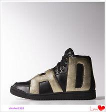 Adidas Originals Jeremy Scott BLACK GOLD JS Letters Sneakers Shoes Size 9