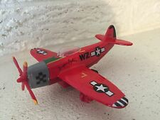 Diecast WWII Propellor Airplane P-47 Thunderbolt Fighter  Friction Toy New