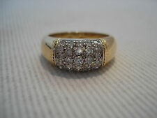 Ring 30 Diamanten ca. 0,80 ct 750 Gelbgold Bague Anello Or 18 K Gold Oro 6,2 g.