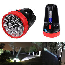 Handheld 15 LED Flashlight Emergency Torch Light Lamp Rechargeable Spotlight