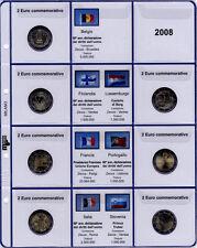 91/08C] PAGINA AGGIORNAMENTO PER MONETE 2 EURO COMMEMORATIVE 2008