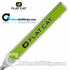 Flat Cat Golf Fat 12 Inch Jumbo Putter Grip - White / Green / Black + FREE Tape
