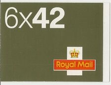 GB 2002 6 x 42p Booklet - NA1 c£35