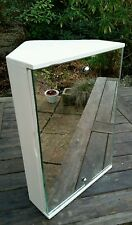 Vintage Retro 1960s Bathroom Vanity Shaving Corner Cabinet Shelves Hipster
