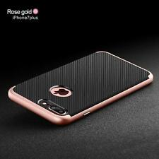 Rock Hybrid Shockproof Carbon Fiber TPU Silicone Case Cover for Apple iPhone