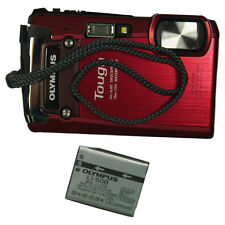 Very Nice Olympus TG-820 TG820 12MP Waterproof Digital Camera  Red