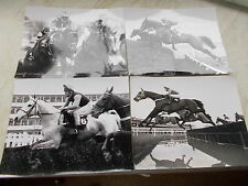 4 National Hunt Old Real Black & White Photos Featuring  Desert Orchid etc..