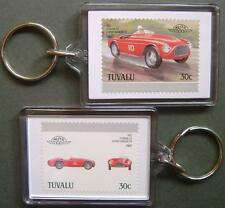 1952 FERRARI 212 Export Barchetta Car Stamp Keyring (Auto 100 Automobile)