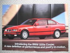 1992 BMW Brochure/POSTER:325is,318i,318is,525i,535i,M5,750iL,735iL,735i,850i,325