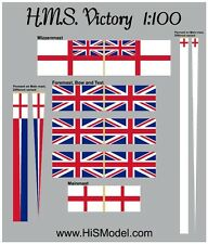 HMS Victory - set of flags for model by Heller, 1:100