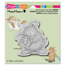 HOUSE MOUSE RUBBER STAMPS CLING HAPPY HOPPERS BUNNY LUV STAMP