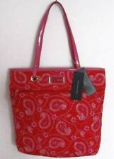 Tommy Hilfiger Womens Red Paisley Quilted Tote Bag NWT