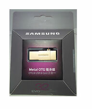 Original Samsung Micro SDHC 32GB EVO Memory Card Metal OTG Reader - Gold