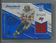 2016 ELITE THROWBACK THREADS DALLAS CLARK GAME-USED JERSEY 216/299 BUCCANEERS
