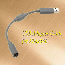 "For Xbox 360 Wired Controller USB Breakaway Cable Adapter 9"" Gray HA"