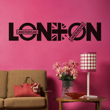 LONDON Quote Wall Vinyl Sticker Famous City Name Wall Decal Removable Home Mural