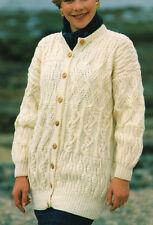 """Lady's Aran Textured Sampler Jacket / Cardigan 32"""" - 42"""" KNITTING PATTERN"""
