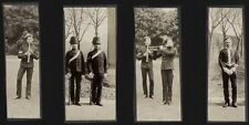 c.1890's PHOTO  - BRITISH ARMY UNIFORM BANDSMEN AND SOLDIERS OF THE HUSSARS