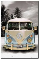VW COMBI CAMPER POP ART- QUALITY CANVAS ART PRINT- Poster A4
