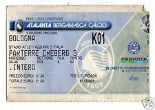 CALCIO   BIGLIETTO  TICKET   ATALANTA  BOLOGNA  CAMPIONATO   2002/2003