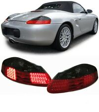 SMOKED LED REAR BACK TAIL LIGHTS LAMPS FOR PORSCHE BOXSTER 986 96-04
